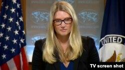 Juru bicara Departemen Luar Negeri AS Marie Harf (foto: dok).