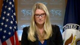 Phát ngôn viên Bộ Ngoại giao Hoa Kỳ Marie Harf nói rằng phía Ukraine có quyền được bảo vệ lãnh thổ và công dân của mình: