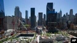2011年5月紐約世貿中心廢墟原址 (資料圖片)