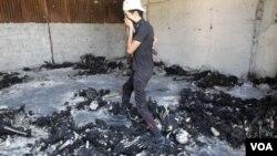Cadáveres calcinados fueron encontrados en un depósito de las Brigadas Khamis, de uno de los hijos de Gadhafi.
