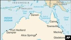 澳大利亚地理位置图
