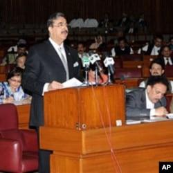 Frayim Ministan kasar Pakistan, Yusuf Reza Gilani, ya na caccakar Amurka kan harin da ta kai babu sanin kasar shi.