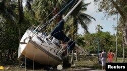 Ibisigarira vy'Ubwato bwononekaye i Miami muri Florida