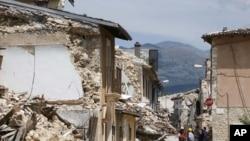 Gempa bumi di kota L´Aquila, Italia menewaskan sedikitnya 308 orang tahun 2009 (foto: dok).