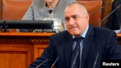 Bulgarian Prime Minister Boiko Borisov speaks in the Parliament in Sofia, Feb. 20, 2013.