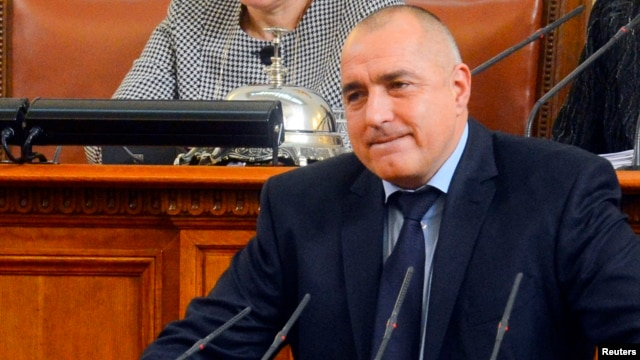 Bulgarian Prime Minister Boiko Borisov speaks in the Parliament in Sofia, February 20, 2013. Bulgaria's government resigned from office on Wednesday after nationwide protests against high electricity prices.