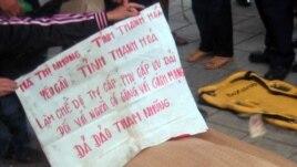 Thi thể của cụ Hà Thị Nhung 76 tuổi, quê ở Thanh Hóa.