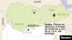 Mapa de Nigeria.