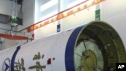 중국의 무인 우주선 선저우 8호 (자료사진)