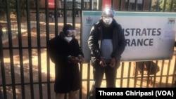 Mutungamiri weTransform Zimbabwe VaJacob Ngarivhume nemutori wenhau VaHopewell Chin'ono and