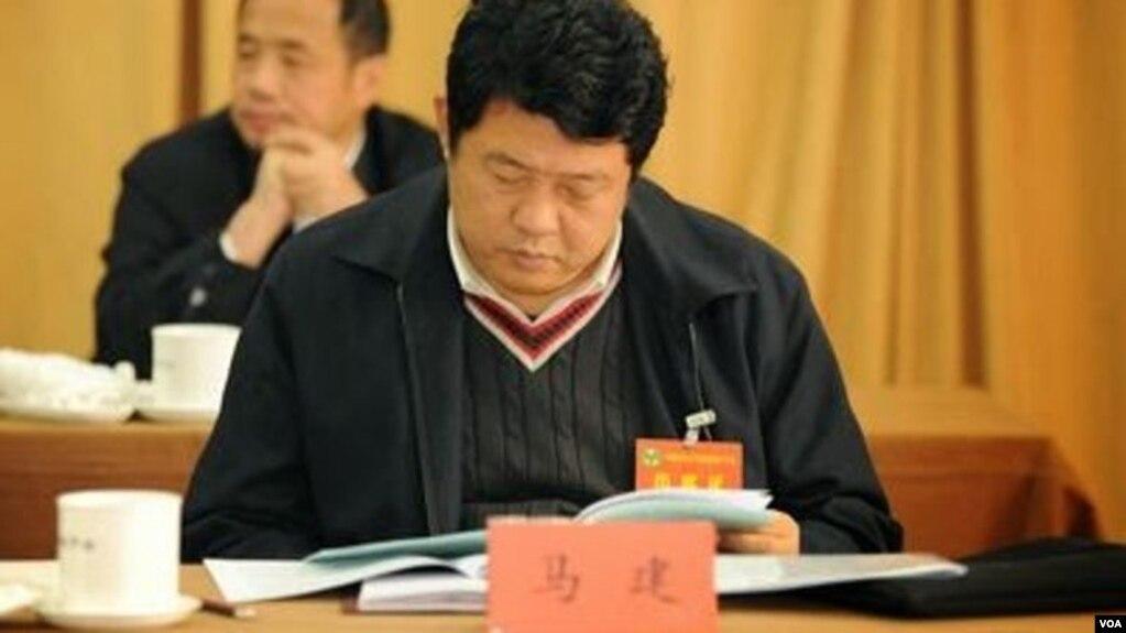 前中国国安部副部长马建(博闻社图片)