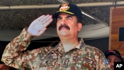 Former Pakistani military chief Raheel Sharif, seen in this Nov. 21, 2016 file photo, has been appointed as Islamic Military Counter Terrorism Coalition's first commander.