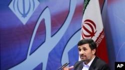 伊朗總統艾哈邁迪內賈德(資料圖片)