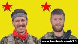 시리아 내전에 참전했다가 최근 전사한 미국인 로버트 그로트(왼쪽)와 니콜라스 앨런 워든.