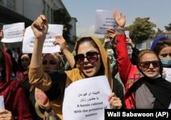 Žene protestuju tražeći prava pod talibanskom, Kabul, 3. septembar 2021.