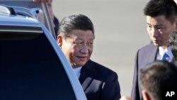 中国国家主席习近平星期二抵达华盛顿州,展开他对美国的首次国事访问 (2015年9月22日)