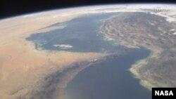 미국 항공우주국(NASA)이 찍은 호르무즈 해협 사진(자료사진)