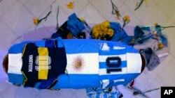 Kovčeg u kojem je sahranjen Dijego Maradona