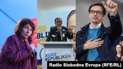 Gordana Siljanovska-Davkova, Blerim Reka, Stevo Pendarovski (Foto: RFE/RL