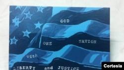 Pintura patriótica de George Zimmerman.