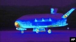 Pesawat antariksa eksperimental X-37B milik militer Amerika (foto: dok).