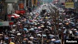 ہانگ کانگ میں جون سے احتجاج جاری ہے — فائل فوٹو