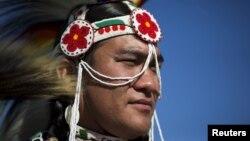 Участник традиционного пау-вау (архивное фото)