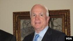 美国会参议院军事委员会主席麦凯恩(资料照片)