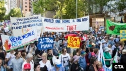 Members and supporters of Sydney's Tibetan community join the People's Climate March