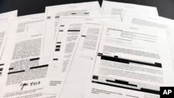 美国司法部星期四将前联调局长科米写的备忘录交给国会