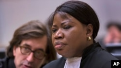 Fatou Bensouda (right) was appointed International Criminal Court prosecutor last year, taking center stage in trials at the Hague, Netherlands, that target African leaders.