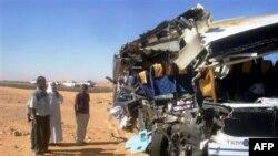 Hiện trường tai nạn hôm Chủ nhật 26/12/2010, giết chết 8 du khách Mỹ