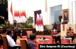 Presiden Jokowi mengundang pimpinan parpol koalisi dì Istana Merdeka, Jakarta, Rabu (25/8). (Foto: Courtesy/Biro Setpres)