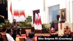 Presiden Jokowi mengundang pimpinan parpol koalisi dì Istana Merdeka, Jakarta, Rabu, 25 Agustus 2021. (Foto: Courtesy/Biro Setpres)