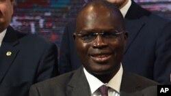 Le maire de Dakar Khalifa Sall à Paris, France, 4 décembre 2015.