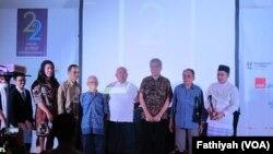 Pemberian Tasrif Award dalam Perayaan HUT AJI ke-22 di Hotel Sari Pan Pasifik, Jumat malam, 26 Agustus 2016 (Foto: VOA/Fathiyah Wardah)