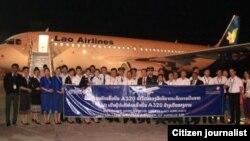ພິທີຮັບເອົາເຮືອບິນ Airbus 320 ຂອງການບິນລາວໃນທ້າຍປີ 2011