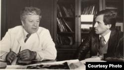 Святослав Федоров и автор статьи. Москва, 1984 г.