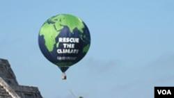 El grupo ambientalista 'Greenpeace' estuvo presente en la COP 16.