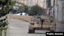 تانکی داعش له هێرشی بۆ سهر کۆبانی