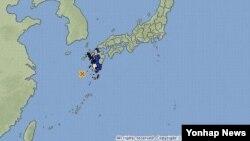 강진이 발생한 일본 규수 남부 해안