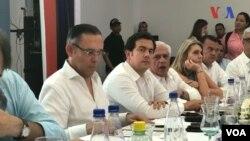 Legisladores de América Latina están reunidos en Cúcuta, Colombia, el viernes, 1 de junio, de 2018, para discutir sobre la crisis en Venezuela.
