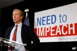 도널드 트럼프 미국 대통령 탄핵 운동에 앞장서온 억만장자 톰 스타이어.