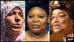 2011 Nobel Barış Ödülü Sahiplerine Verildi