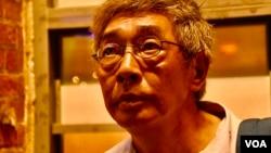 流亡台灣的香港銅鑼灣書店前店長林榮基。(美國之音湯惠芸攝)