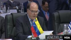 Jefe de la delegación del gobierno interino de Venezuela ante la Organización de los Estados Americanos, Julio Borges.