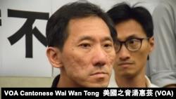 被法庭取消資格的香港前立法會議員姚松炎 (攝影:美國之音湯惠芸)