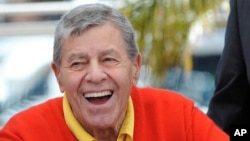 """Jerry Lewis at a photocall for """"Max Rose"""" at the 66th Cannes Film Festival, May 23, 2013."""