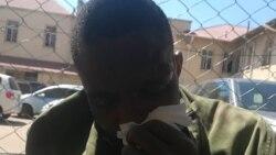 Omunye wabantu abalinyazwe ngamapholisa eBulawayo Central Police Station ngoLwesithathu. (Courtesy Photo: MRP)