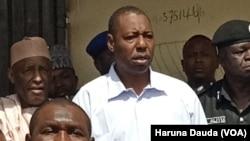 Gwamnan Jihar Borno Babagana Umara Zulum a ziyarar gane wa ido.